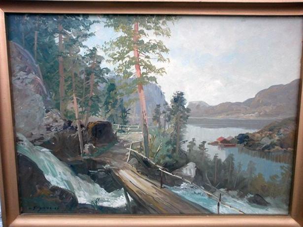 Motivet minner langt meir om Rydlandssagselva og Dåfjorden enn om Ådlandsvatnet, seier Terje Lamo.