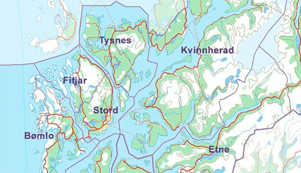 fonna kart Bømlo, Fitjar, Stord og Tysnes – eller berre Stord og Fitjar  fonna kart