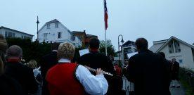 Presis  flaggheising  i  Nordre    Kaisving