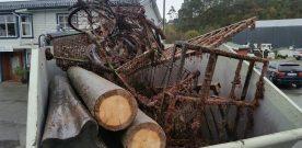 Henta  opp  fleire  tonn  søppel  frå  sjøbotnen